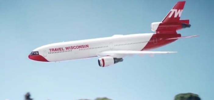 Kareem's airplane! commercial: milwaukee business journal's 3rd most-watched video of 2014