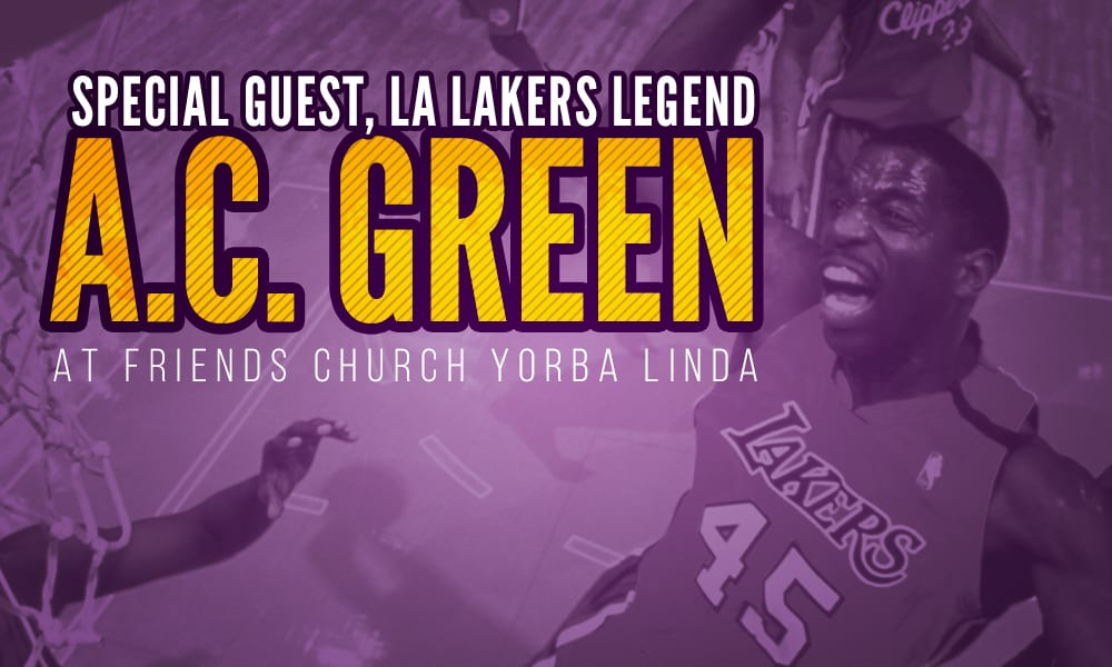 Lakers legend a.c. green at friends church yorba linda