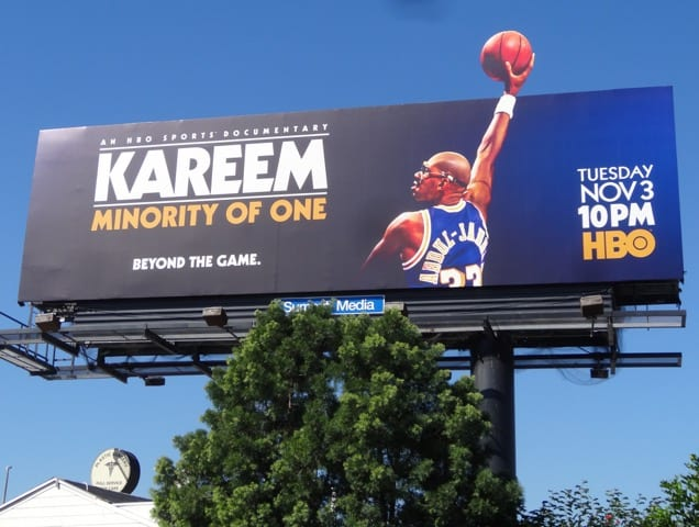 Billboard's up for 'kareem: minority of one' – debuts tuesday, nov. 3 on hbo at 10p et/pt