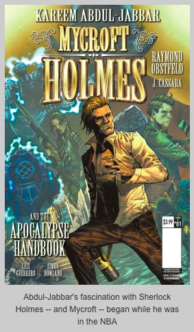 "Kareem abdul-jabbar comes to comics with ""mycroft holmes"""