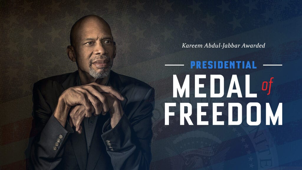 Congratulations to kareem for being named a recipient of the presidential medal of freedom