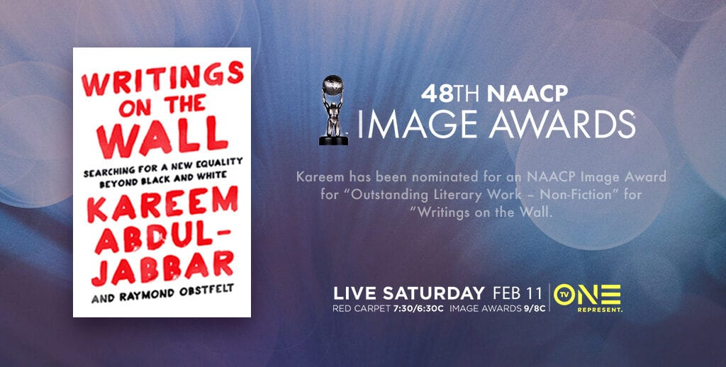 Congratulations to kareem on his nomination for an naacp image award