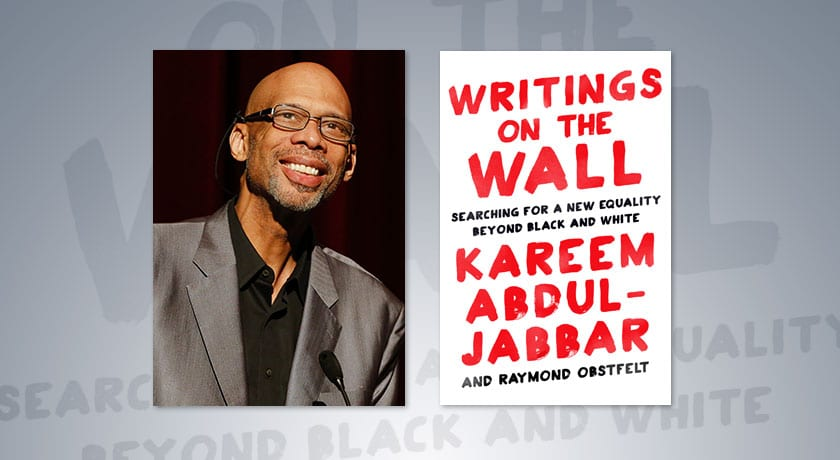 "We wish to congratulate kareem on his best selling book ""writings on the wall"""