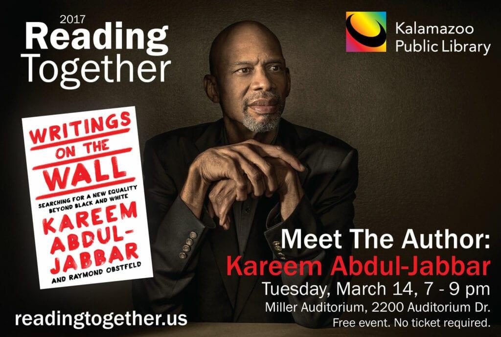 March 14, 2017 – meet kareem at the kalamazoo public library