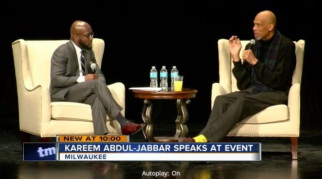 Watch a clip of kareem discussing islam at milwaukee theatre