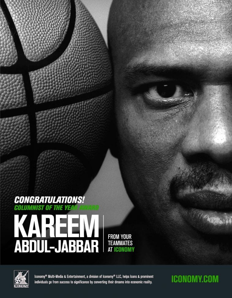 Congratulations kareem for scoring the columnist of the year award, from your teammates at iconomy!