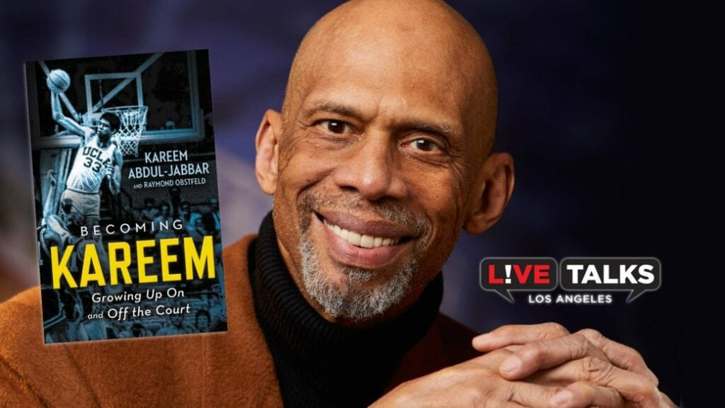 """May 22, 2018- fox riverside theater foundation- live talks, an afternoon with kareem abdul-jabbar discussing his book, """"becoming kareem: growing up on and off the court"""" (riverside, ca)"""
