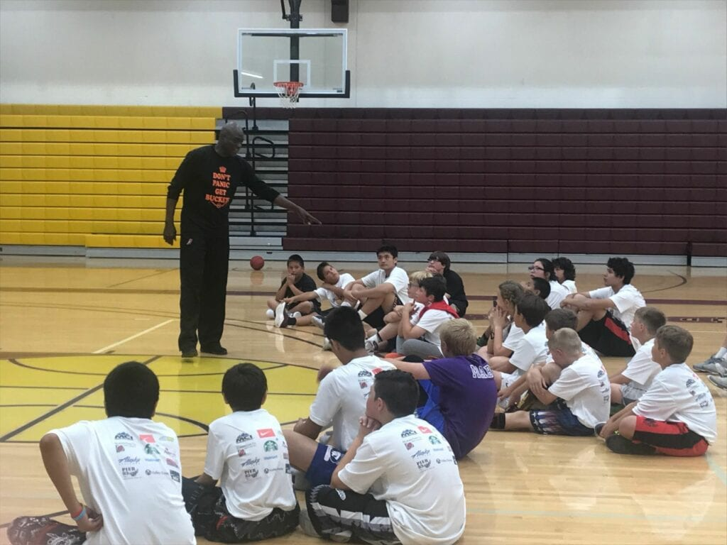 Los angeles lakers legend michael cooper uses basketball camp in pablo to teach on, off court skills
