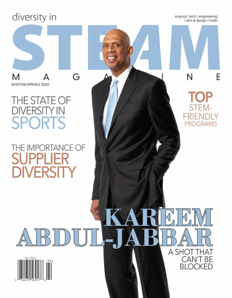 """Cover of """"diversity in steam magazine"""" (winter/spring 2020)"""